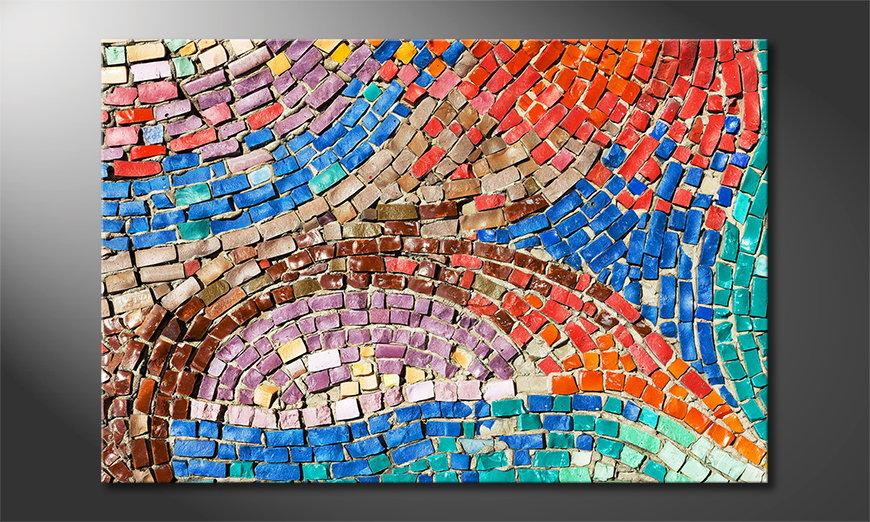 Art print Colorful Mosaic