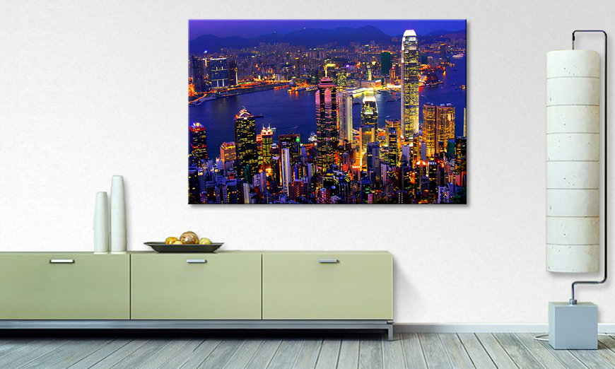 Art print Hongkong View