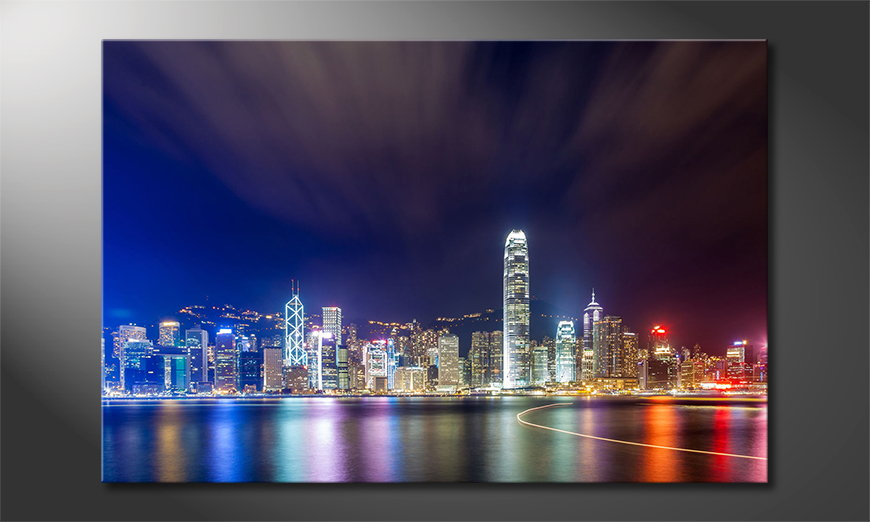 Art print Hongkong at Night