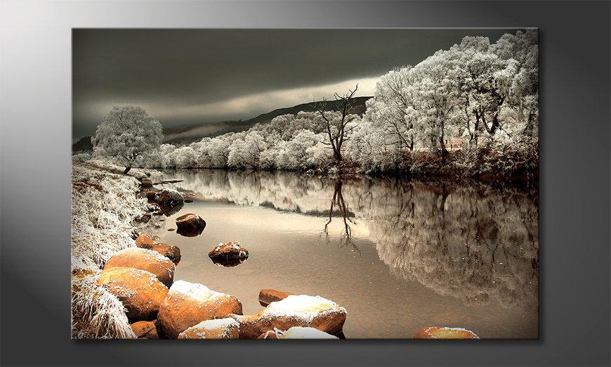 Art print Mystic River