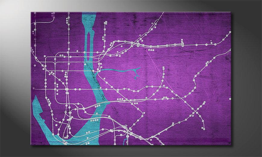 Art print New York Metro