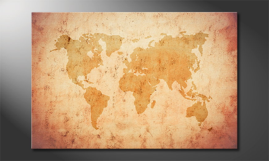 Art print Old Worldmap