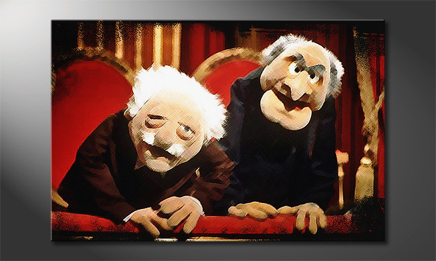 Art print Waldorf and Statler