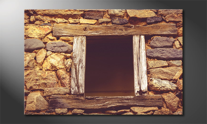 Art print Wooden Window