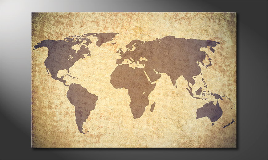 Art print Worldmap Vintage