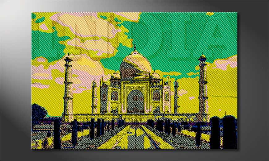 Beautiful canvas print Taj Mahal