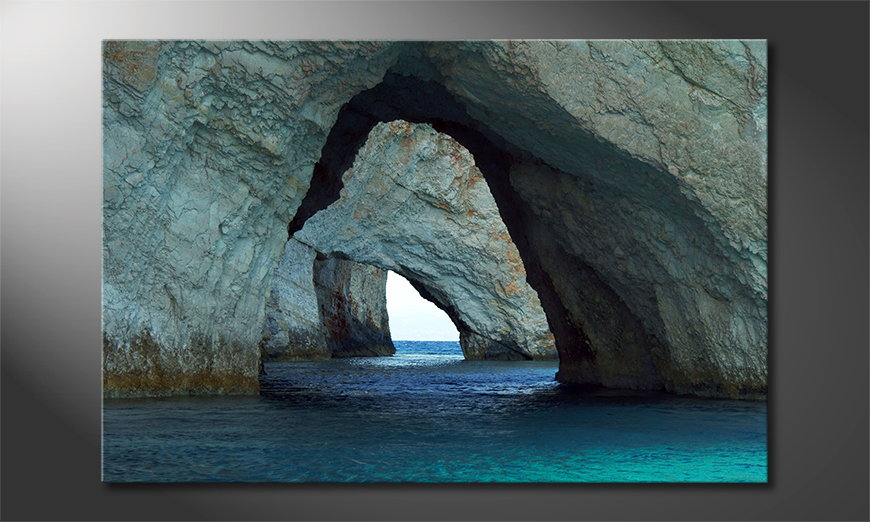 Canvas Blue Caves