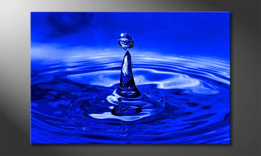 Canvas Blue Drop