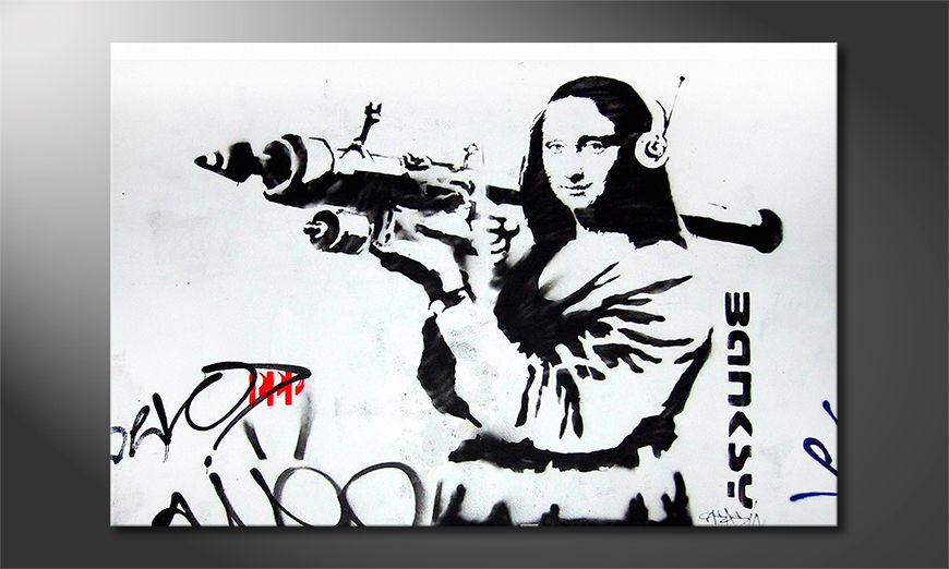 Canvas print Banksy No1