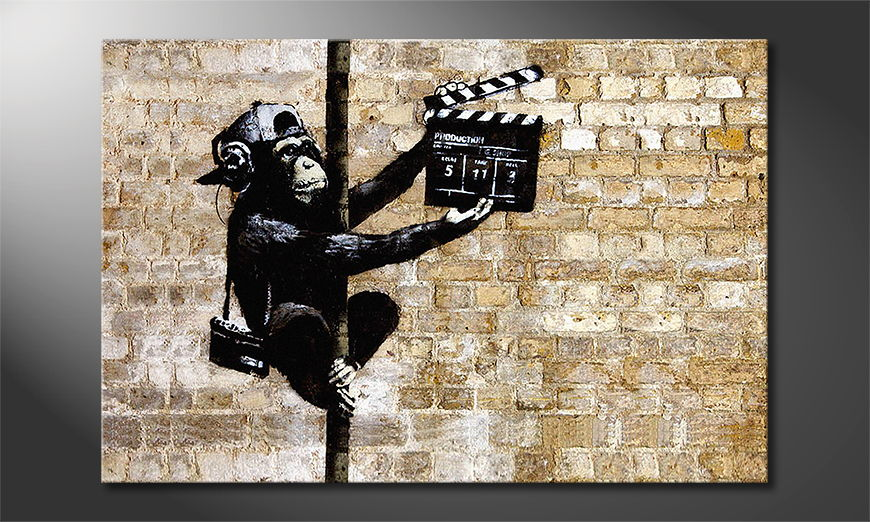 Canvas print Banksy No13