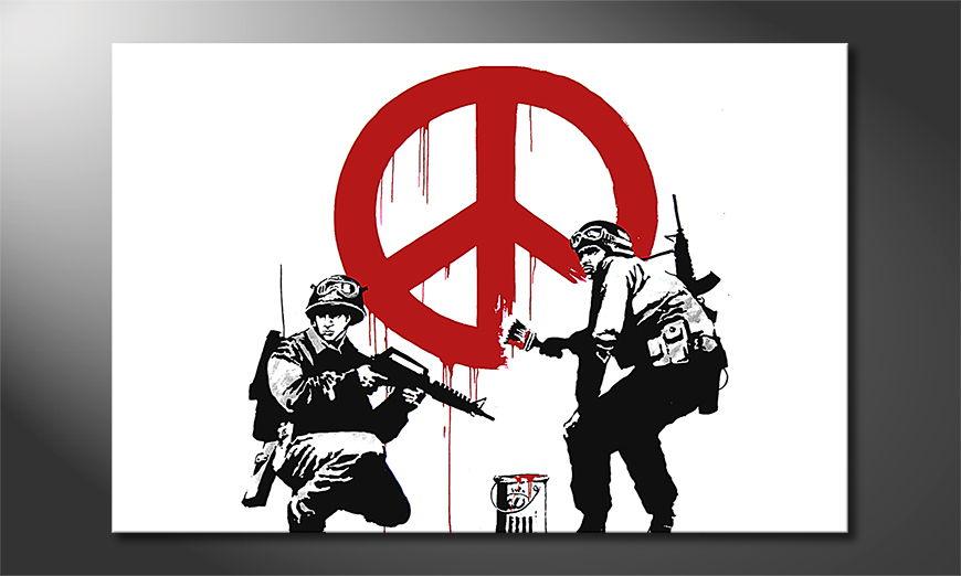 Canvas print Banksy No15