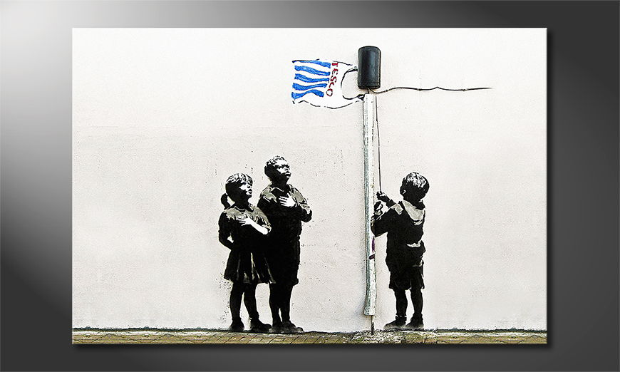 Canvas print Banksy No18