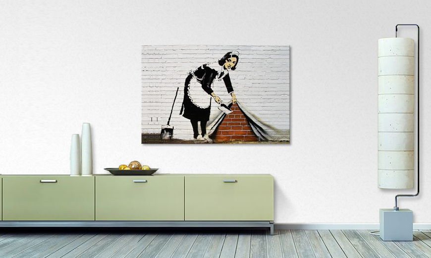 Canvas print Banksy No19