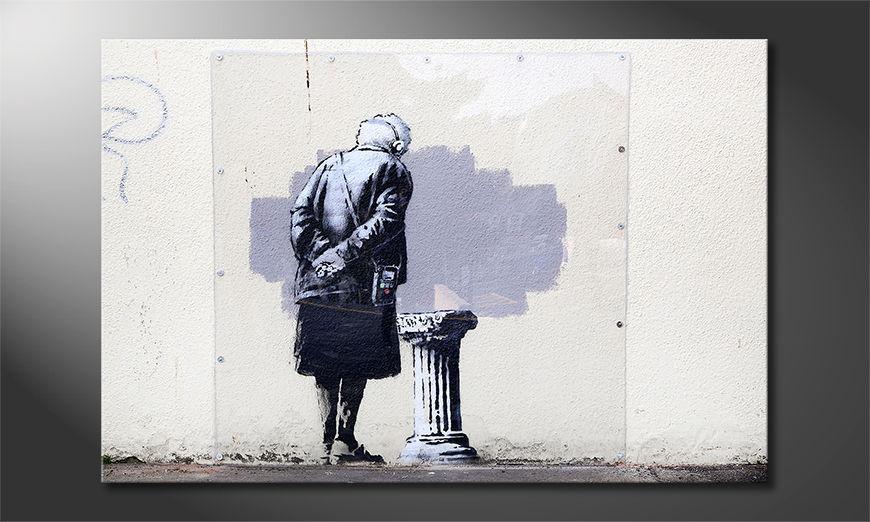 Canvas print Banksy No2