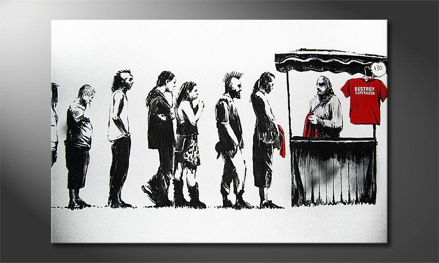 Canvas print Banksy No6