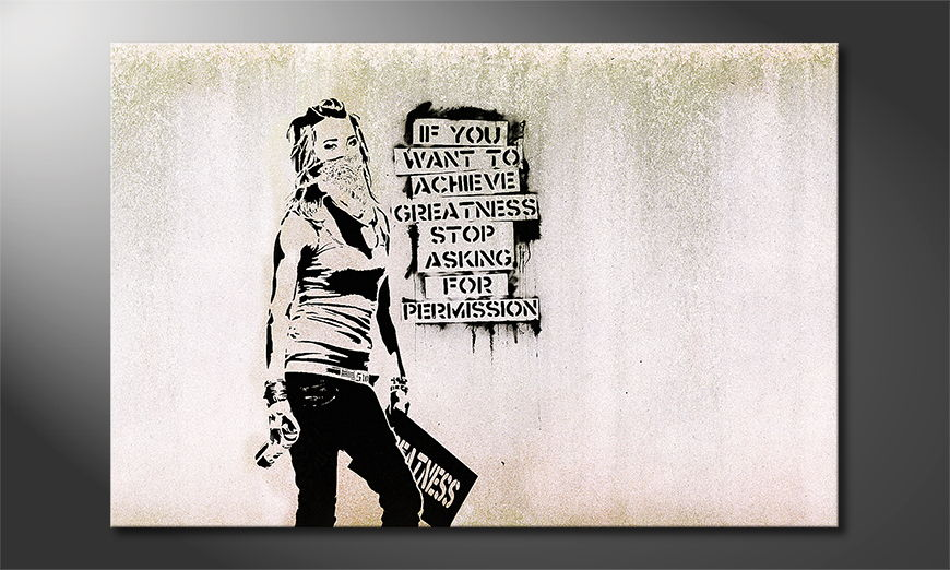 Canvas print Banksy No7