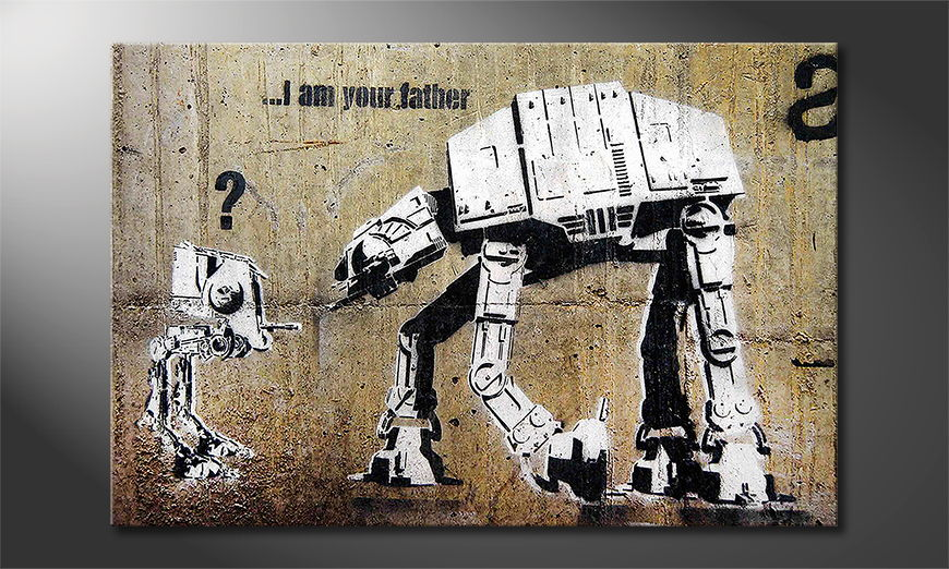 Canvas print Banksy No9