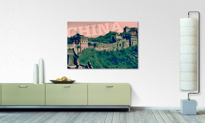 Canvas print Chinese wall