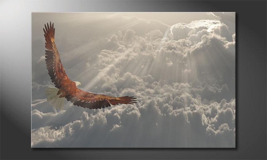 Canvas print Eagle Flight