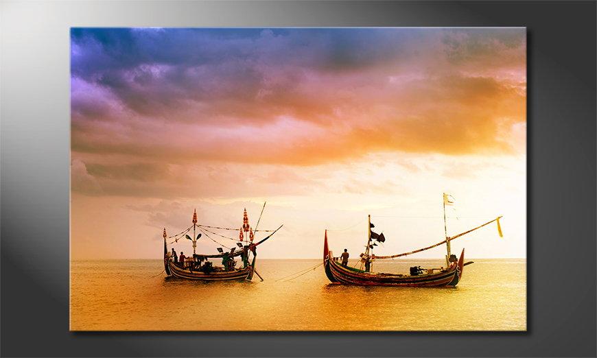 Canvas print Fishing Boats