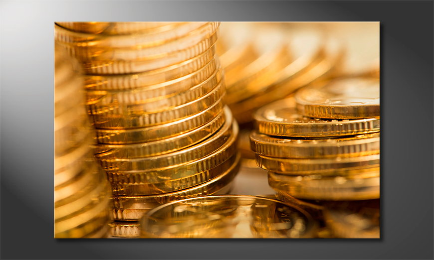 Canvas-print-Gold-Coins