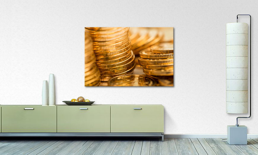Canvas print Gold Coins