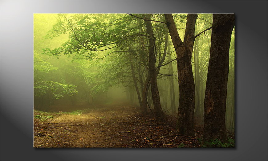 Canvas-print-Green-Forest