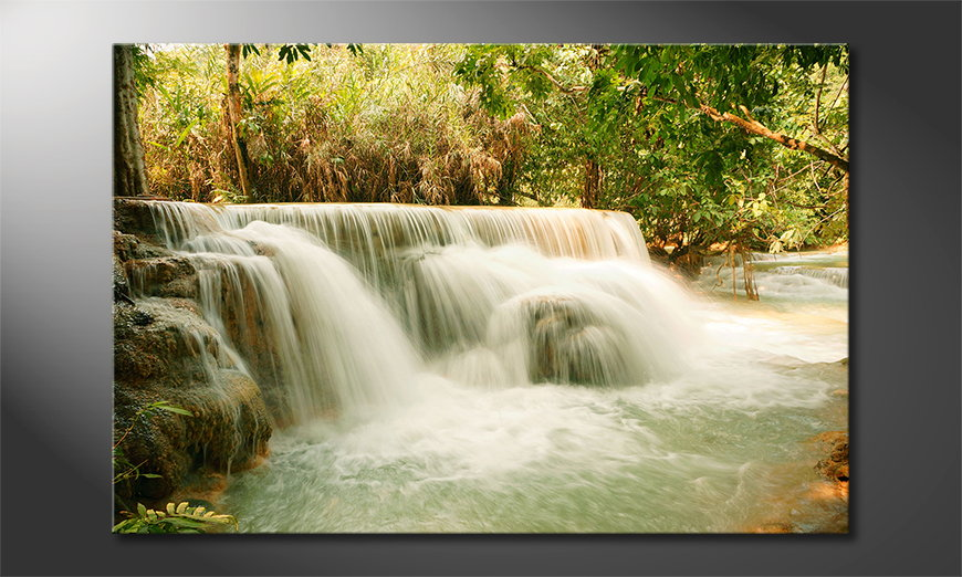 Canvas print Jungle Waterfall