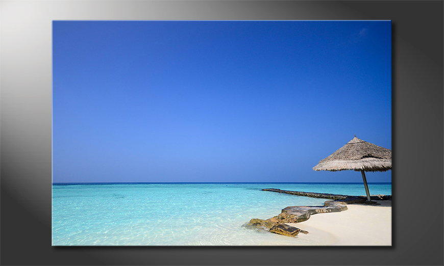 Canvas print Maledives Beach