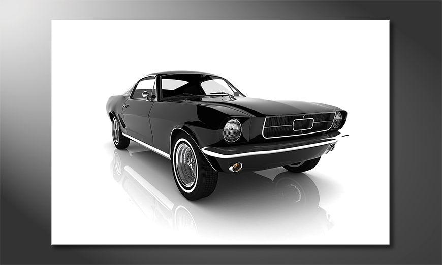 Canvas print Mustang