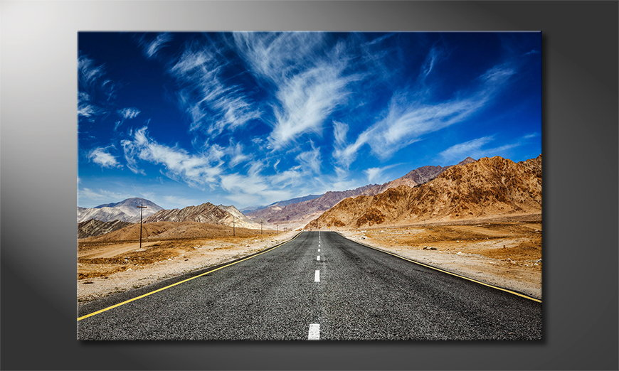 Canvas-print-Road-to-Nowhere