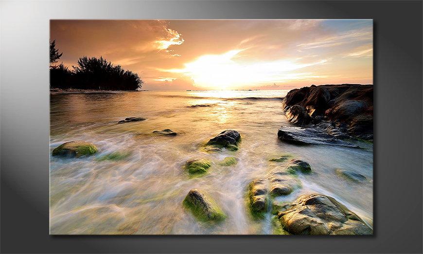 Canvas print Stoned Sunset