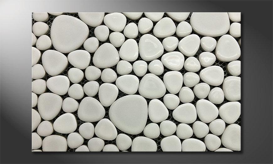 Canvas print Stones Mosaic