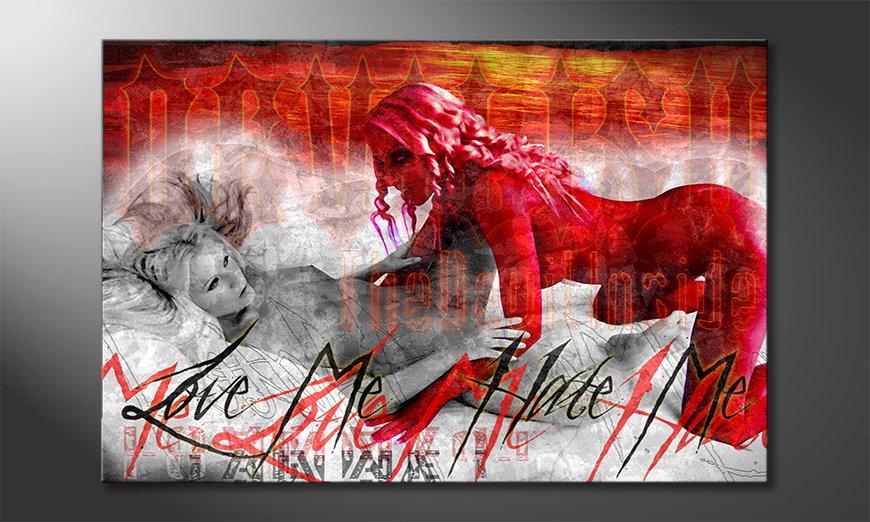 Erotic art print Devilish
