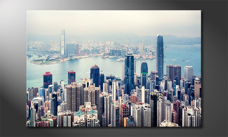 Hongkong Skyline art print