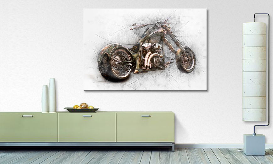 Modern Canvas print Bad Bike