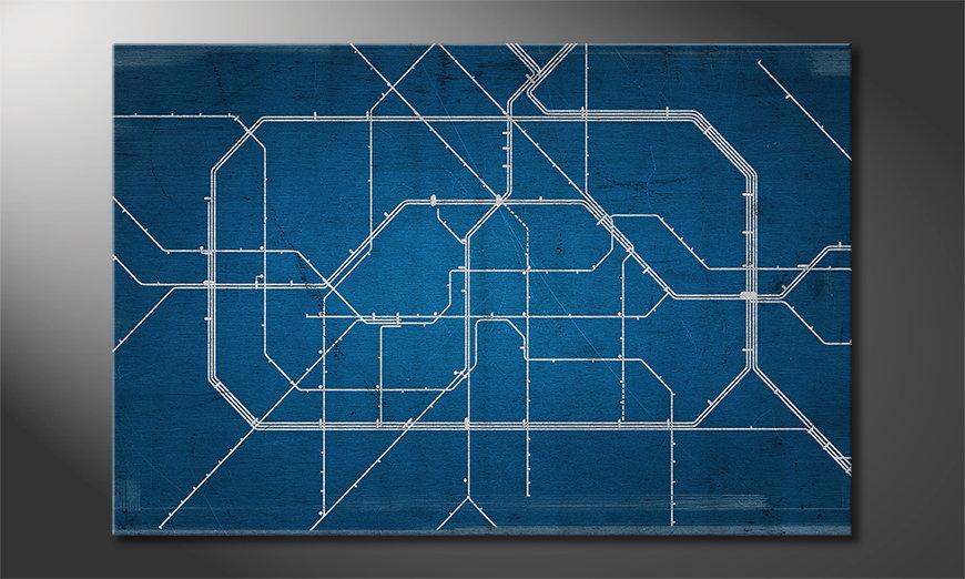 Modern Canvas print Berlin Metro