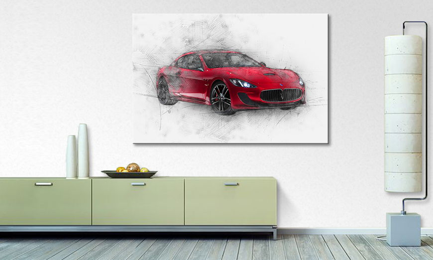 Modern Canvas print Italian Power