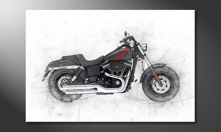 Modern Canvas print Motorbike uno