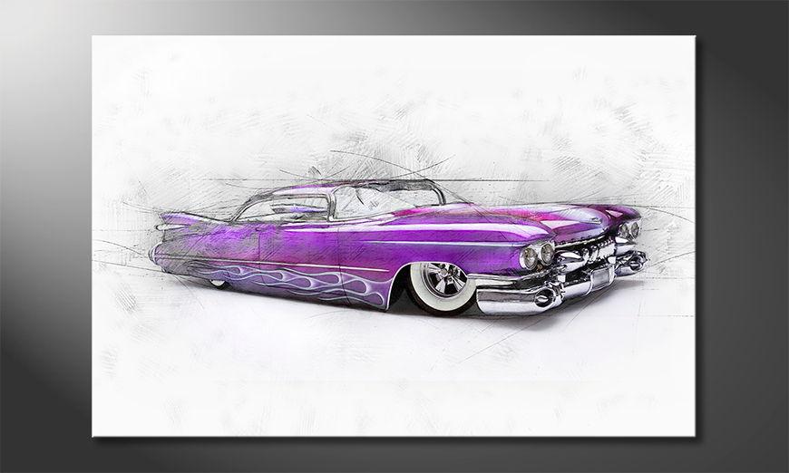 Modern Canvas print Pink Cadillac