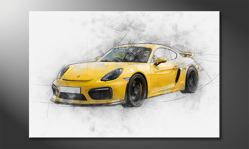 Modern Canvas print Yellow Power