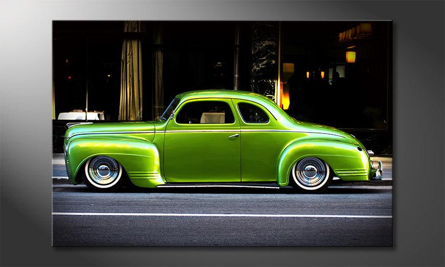 Modern art print Green Car