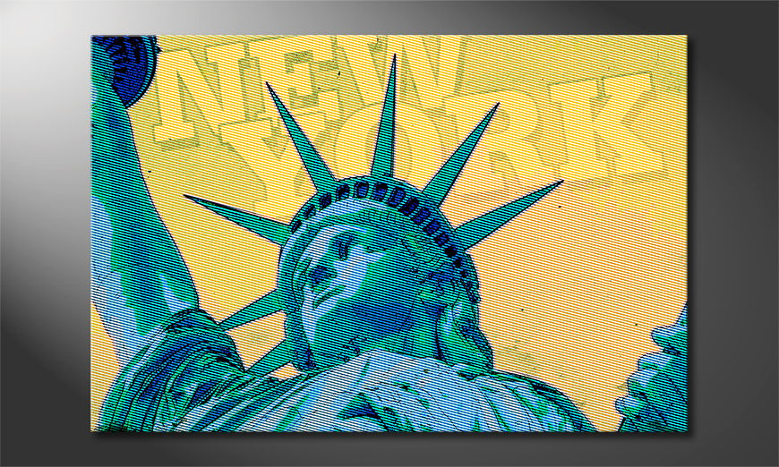 Modern art print New York in 6 sizes