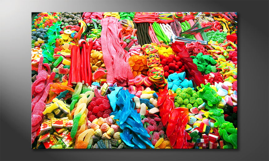 Modern art print Sweets
