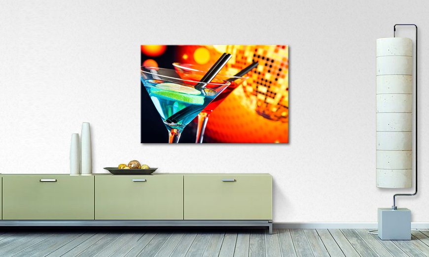 Modern art print Two Cocktails