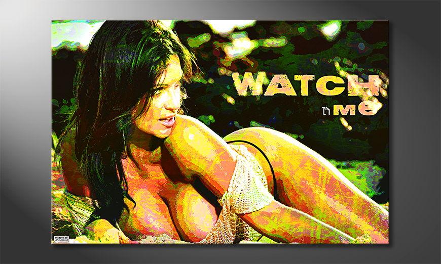Modern art print Watch Me