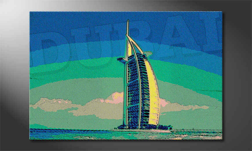 Modern print Dubai in 6 sizes