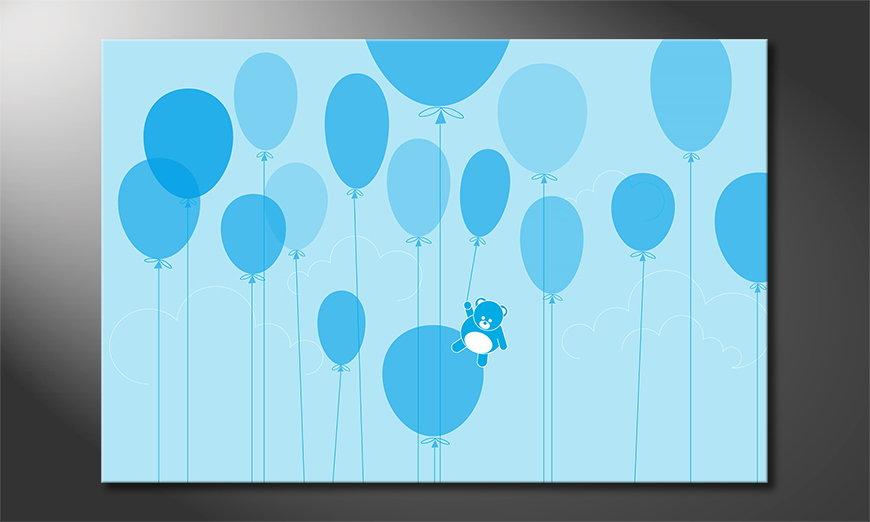 Stunning art print Balloons