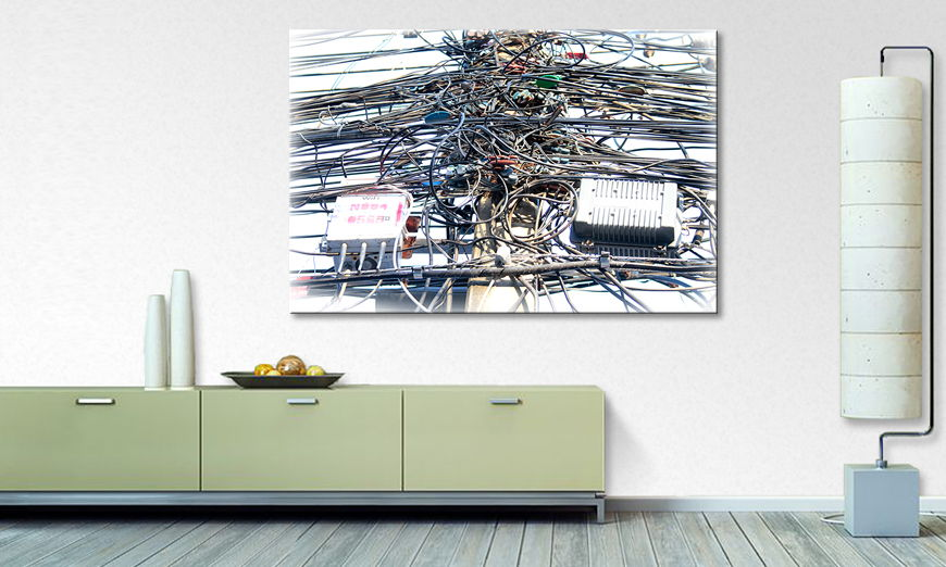 The modern art print Cable Chaos