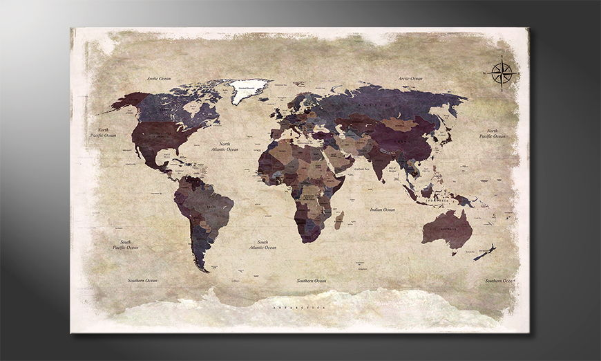 The modern art print Old Worldmap 3